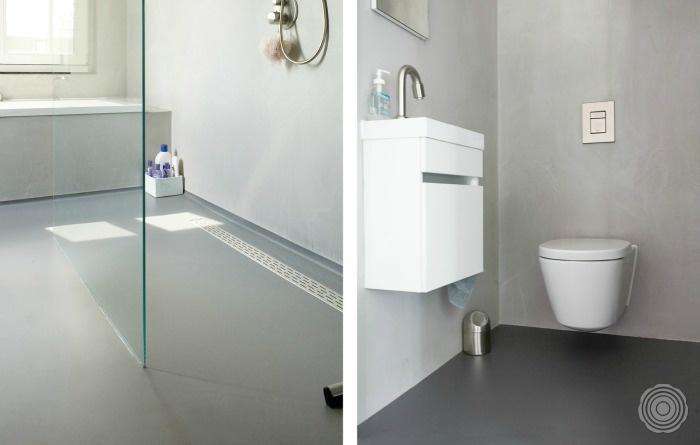 Badkamer Zonder Toilet : Senso gietvloeren badkamers senso gietvloer