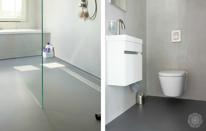 Senso gietvloeren badkamers senso gietvloer